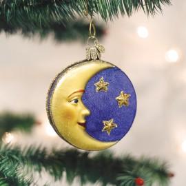 Kerstbal Gezicht in de Maan