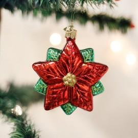 Kerstbal Poinsettia Kerstster