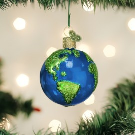Kerstbal Planeet Aarde Blauw-groen