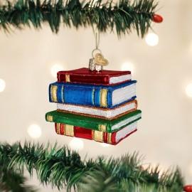 Kerstbal Stapel Boeken