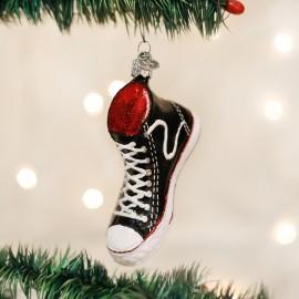 Kerstbal Sneaker High Top Zwart-wit