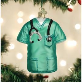 Kerstbal Doktersjas Groen