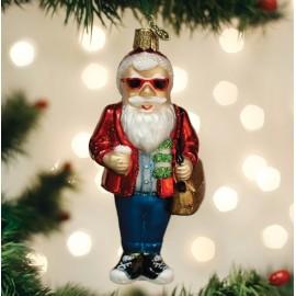Kerstbal Hipster Kerstman