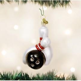 Kerstbal Bowlingbal met Kegels
