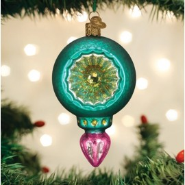 Kerstbal Retro Turquoise Luster Reflector