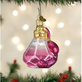 Kerstbal Parfumflesje Roze