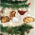 Mini Woodland Kerstballen Set van 6 Dieren