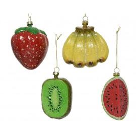 Set van 4 Onbreekbare Kerstballen Fruit