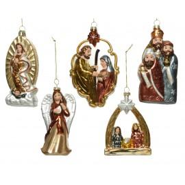 Set van 5 Onbreekbare Kerstballen Religie