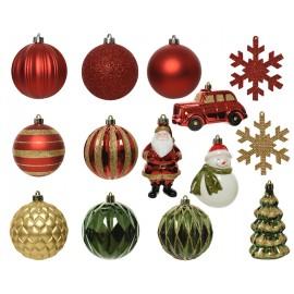 Set van 25 Onbreekbare Kerstballen Mix 1
