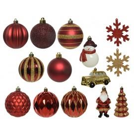 Set van 25 Onbreekbare Kerstballen Mix 2