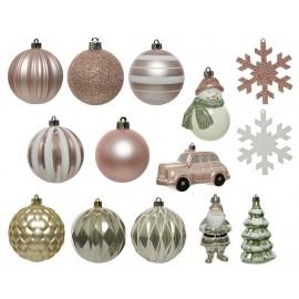 Set van 25 Onbreekbare Kerstballen Mix 3