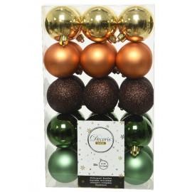 Set van 30 Onbreekbare Kerstballen 6CM