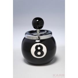 Asbak Eightball  Zwart