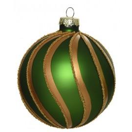 Set van 3 Kerstballen Dennengroen Goud
