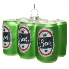 Kerstbal Sixpack Bier