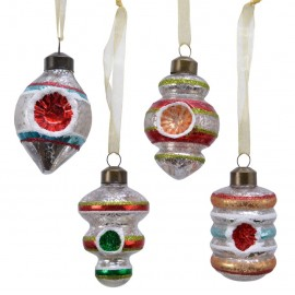 Set van 4 Retro Ornamenten