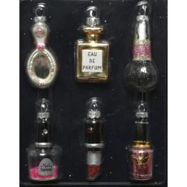 Set van 6 Mini Kerstballen Beauty Accessoires