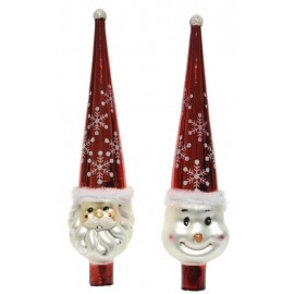 Piek Kerstman-Sneeuwpop Rood
