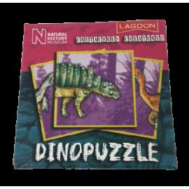 Dinopuzzel 9 delen roze-petrol