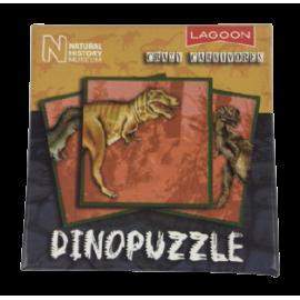 Dinopuzzel 9 delen geel-zwart