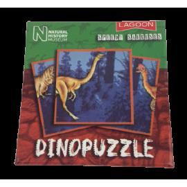 Dinopuzzel 9 delen groen-rood