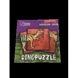 Dinopuzzel 9 delen paars-groen