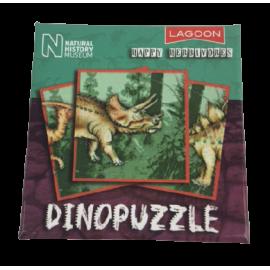 Dinopuzzel 9 delen groen-bruin