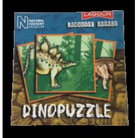 Dinopuzzel 9 delen blauw-bruin