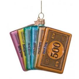Kerstbal Monopoly Geld