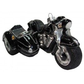 Kerstbal Motor met Zijspan