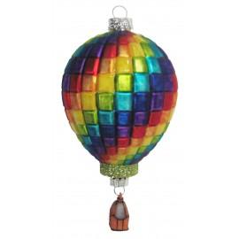 Kerstbal Regenboog Hete Luchtballon