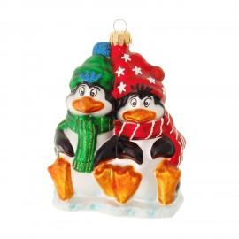 Kerstbal Pinguïns op het IJs