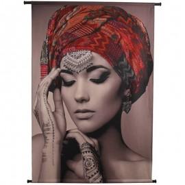 Wanddoek Velvet Henna Lady