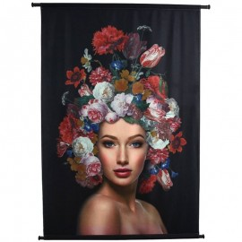 Wanddoek Velvet Flower Lady