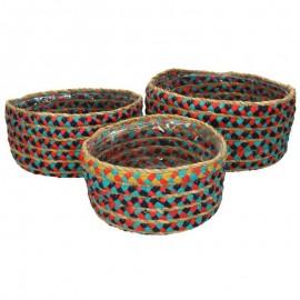 Set van 3 Manden multicolor