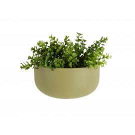 Wandpot Oval Wide Olijf Groen
