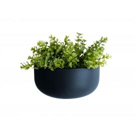 Wandpot Oval Wide Donker Blauw
