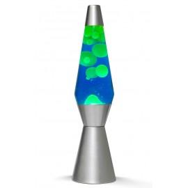 Lavalamp Bullet Zilver Groen-blauw