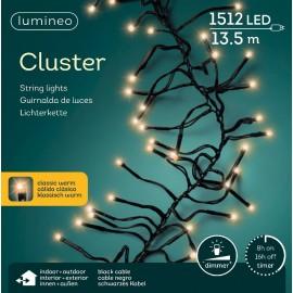 Kerstboomlampjes 13,5 Meter Led Cluster 1512 Lichts Klassiek Warm