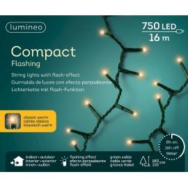 Kerstboomlampjes 16 Meter 750 Led Klassiek Warm Flashing
