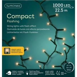Kerstboomlampjes 22,5 Meter 1000 Led Klassiek Warm Flashing