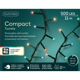 Kerstboomlampjes 11 Meter 500 Led Twinkle Effect Multicolor
