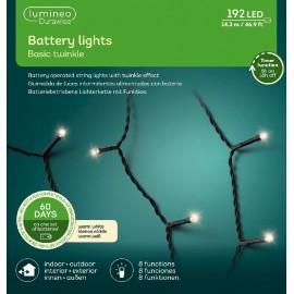 Kerstboomlampjes op Batterijen 14,3 Meter 192 Led Twinkle Effect Warm Wit