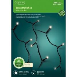 Kerstboomlampjes op Batterijen 27,5 Meter 368 Led Twinkle Effect Warm Wit