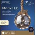 Hanglamp 30 Lichts Micro Led Bol Ø 14cm Warm Wit