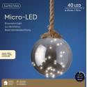 Hanglamp 40 Lichts Micro Led Bol Ø 20 cm Warm Wit