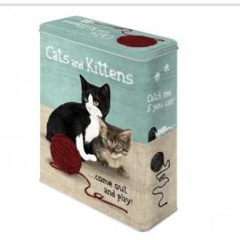 Retro Blik XL Cats ans Kittens 3D