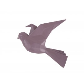 3D Muurdecoratie Origami Vogel - Grijs