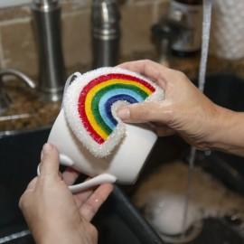 Afwas Schuursponsjes Regenboog